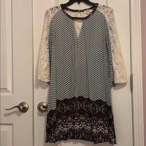 Umgee Bohemian Sleeved Dress